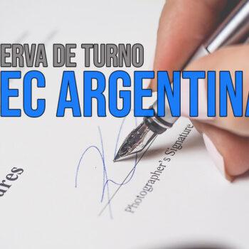Reserva de turno MEC Argentino documentos